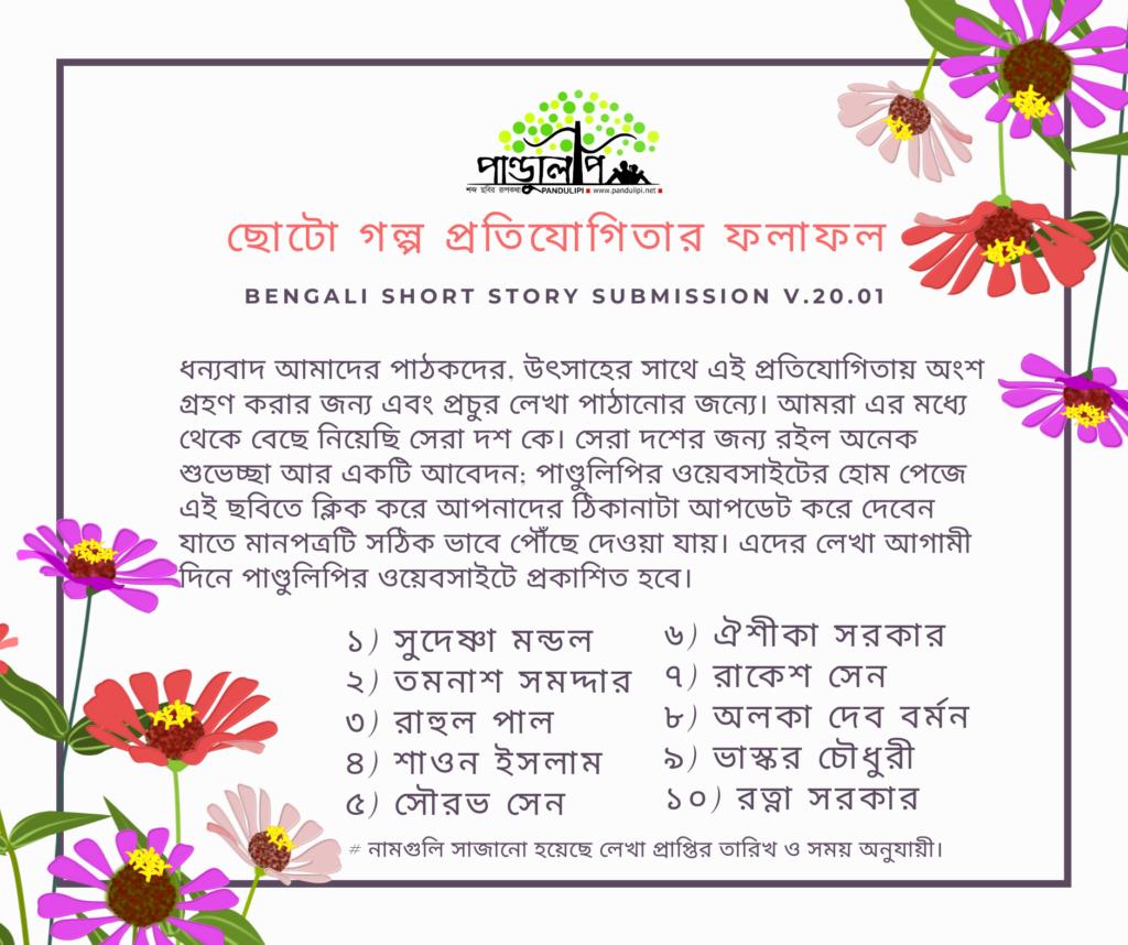 Result of Story competition Pandulipi dot neta