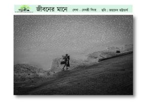 Jiboner Mane, Written by Debashree Singha, Cover icture by Jaydeb Bhattacharya